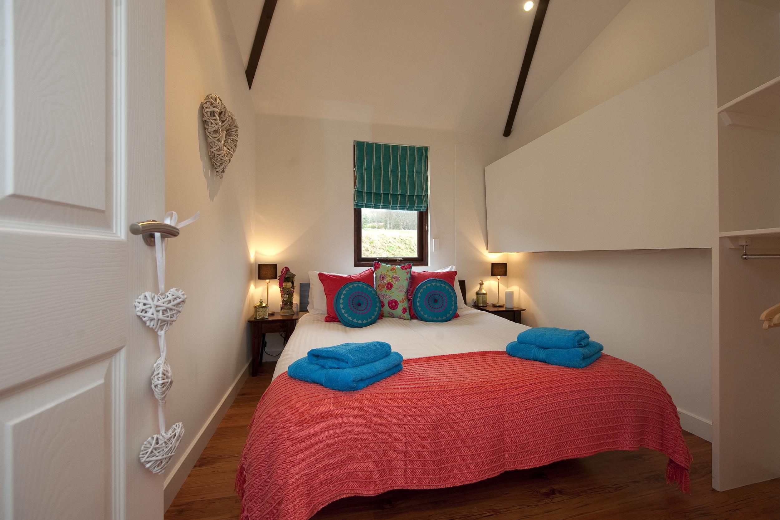 Woodland Cabin Bedroom at Loch Tay