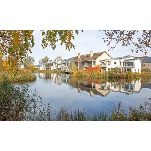 Spa cottages at Lower Mill Estate, Cotswold Water Park