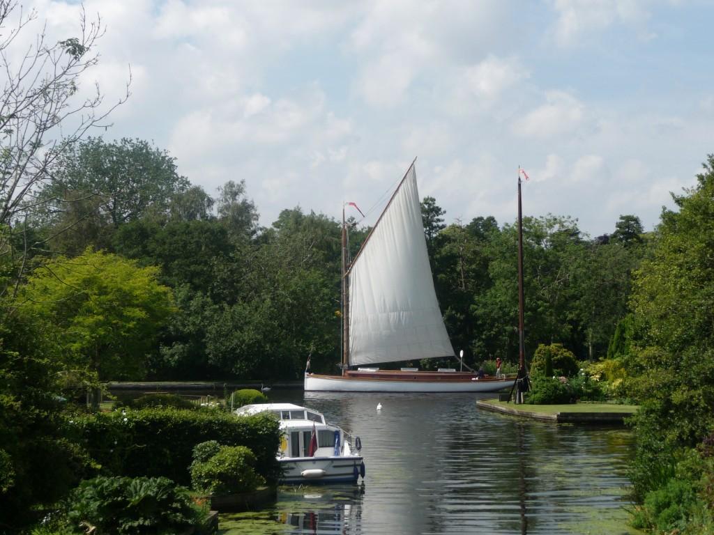 white moth sailing wherry, norfolk broads