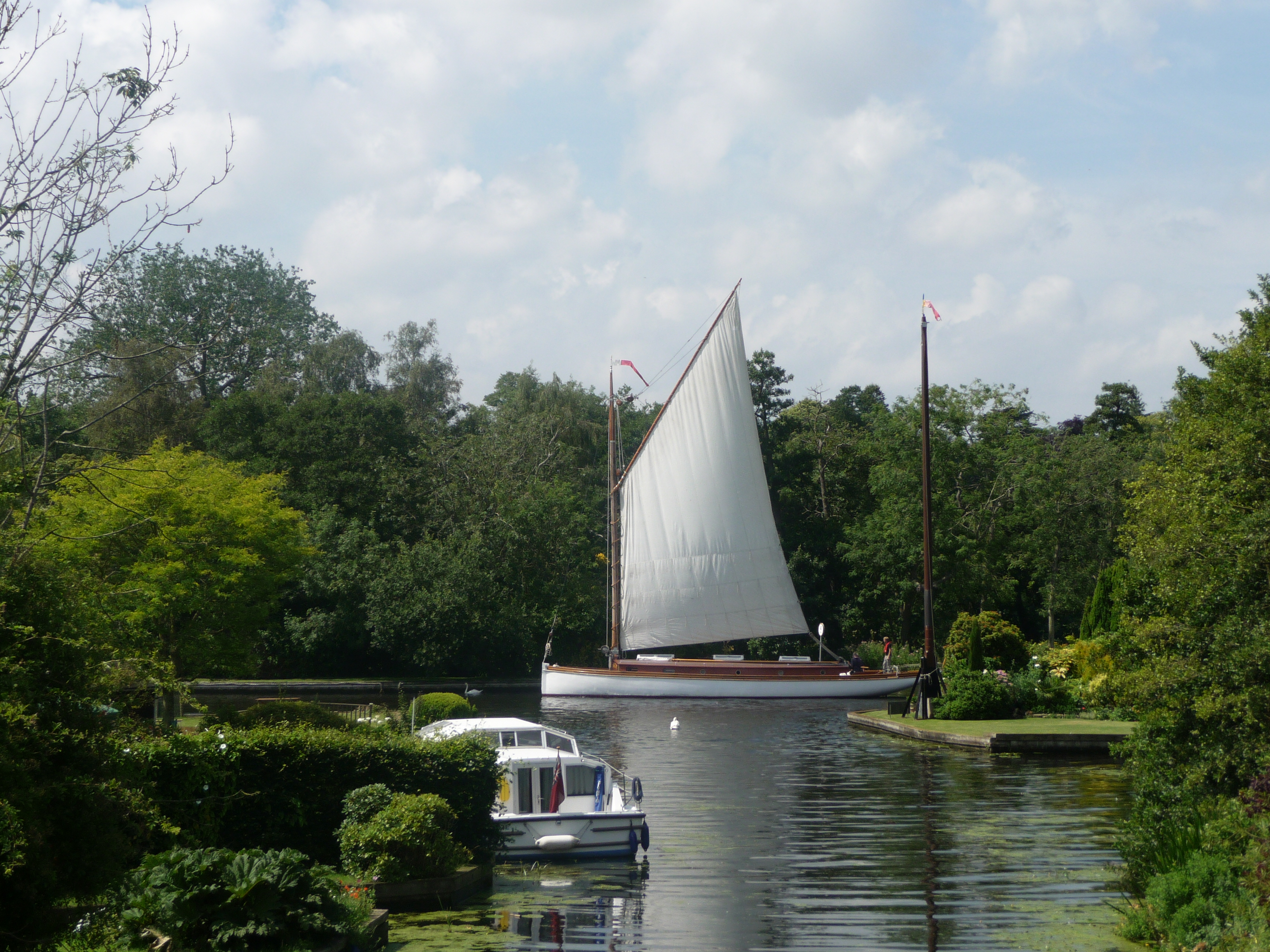 white moth sailing wherry, norfolk broads
