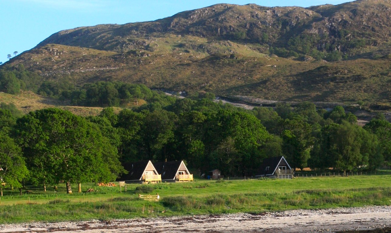roshven farm chalets, arisaig, scottish west coast,