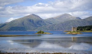 castle Stalker from Appin - 1000