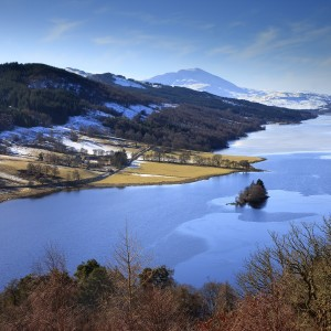 Winter view overlooking Loch Tummel from Queens View