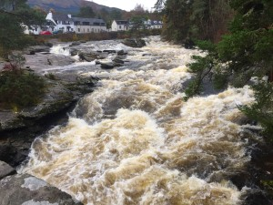 falls of dochart at killin loch tay