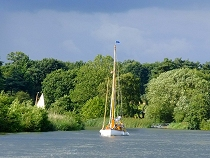 Go exploring on the waterways in the Norfolk Broads