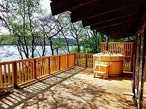Crannog Hot Tub Lodge at Loch Awe, Scottish Highlands