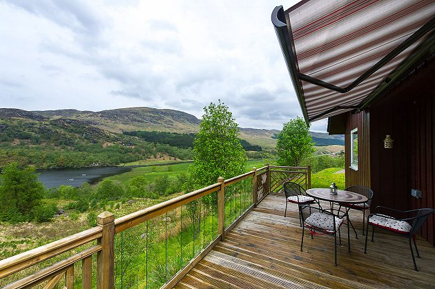 Portnellan Kingfisher Holiday Lodges Crianlarich Scotland