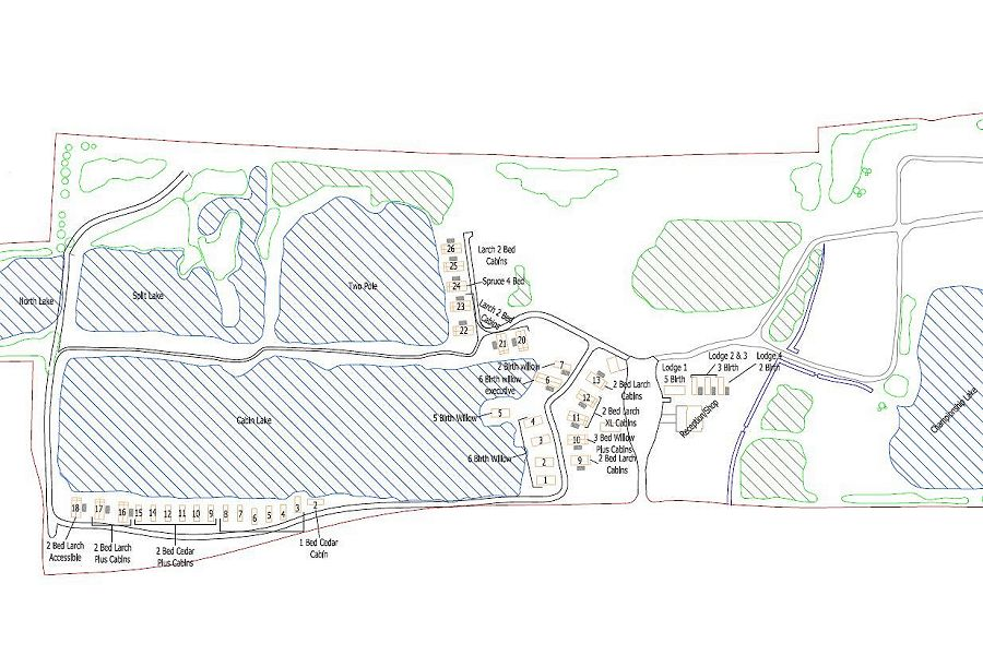 Woodlakes Site Map